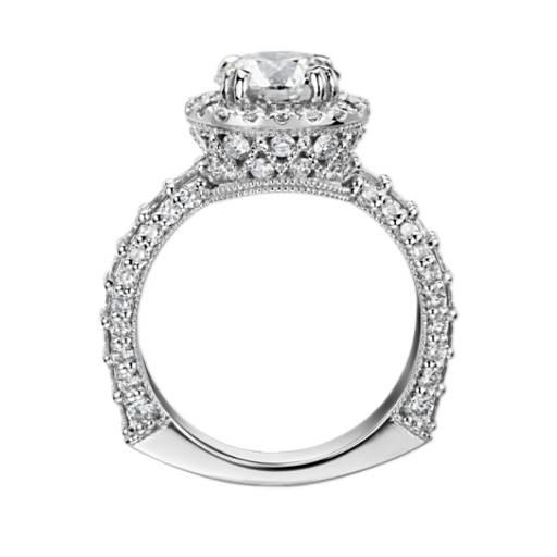 Bella Vaughan for Blue Nile Grandeur Halo Diamond Engagement Ring