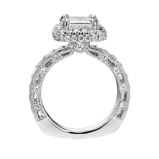 Bella Vaughan for Blue Nile Imperial Princess Halo Diamond Engagement Ring