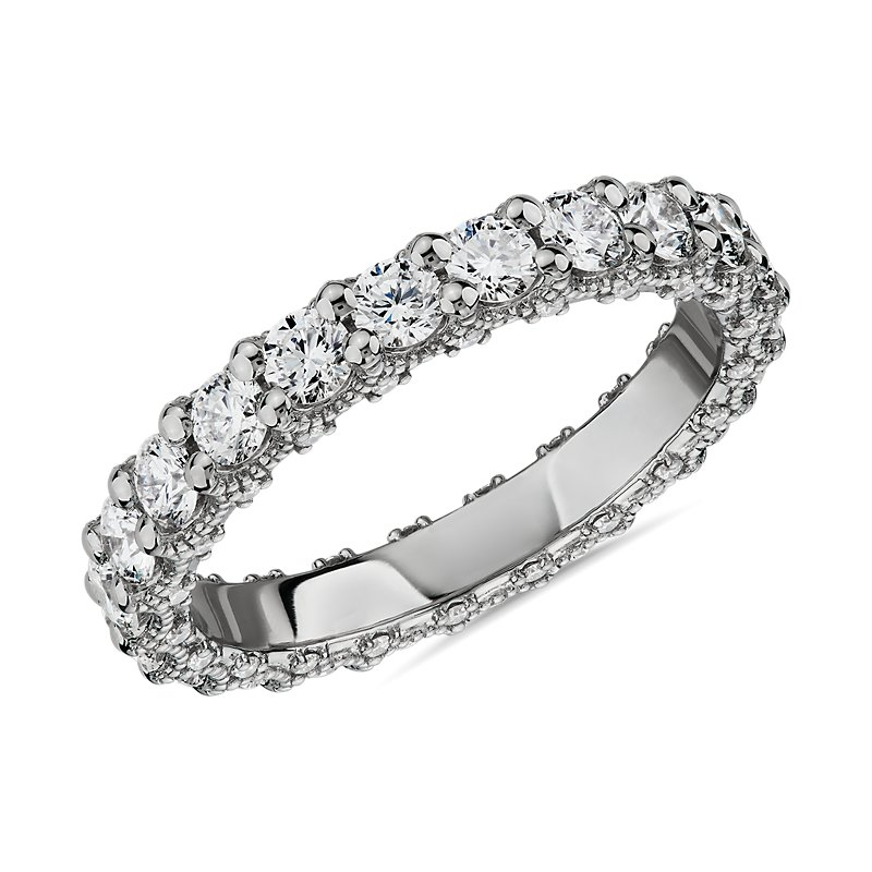 Bella Vaughan for Blue Nile Roma Diamond Wedding Ring in Platinum