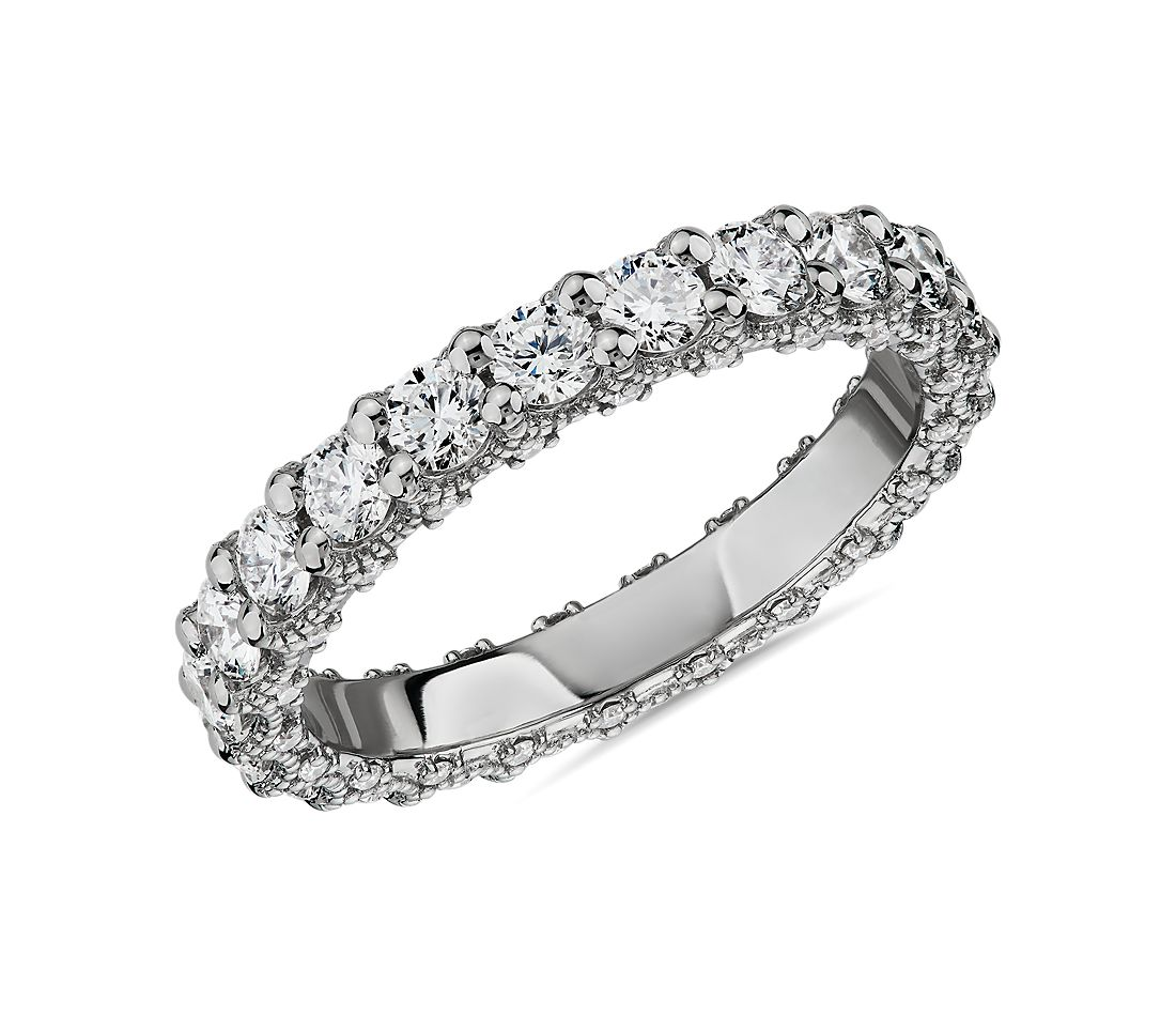 Bella Vaughan for Blue Nile Roma Diamond Wedding Ring in Platinum (1 5/8 ct. tw.) - G/VS2