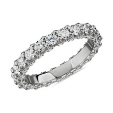 NEW Bella Vaughan for Blue Nile Roma Diamond Wedding Ring in Platinum (1 5/8 ct. tw.) - G/VS2