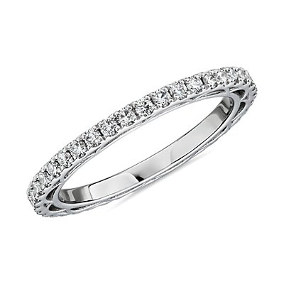 NEW Bella Vaughan for Blue Nile Scia Diamond Eternity Ring in Platinum (5/8 ct. tw.) - G/VS2