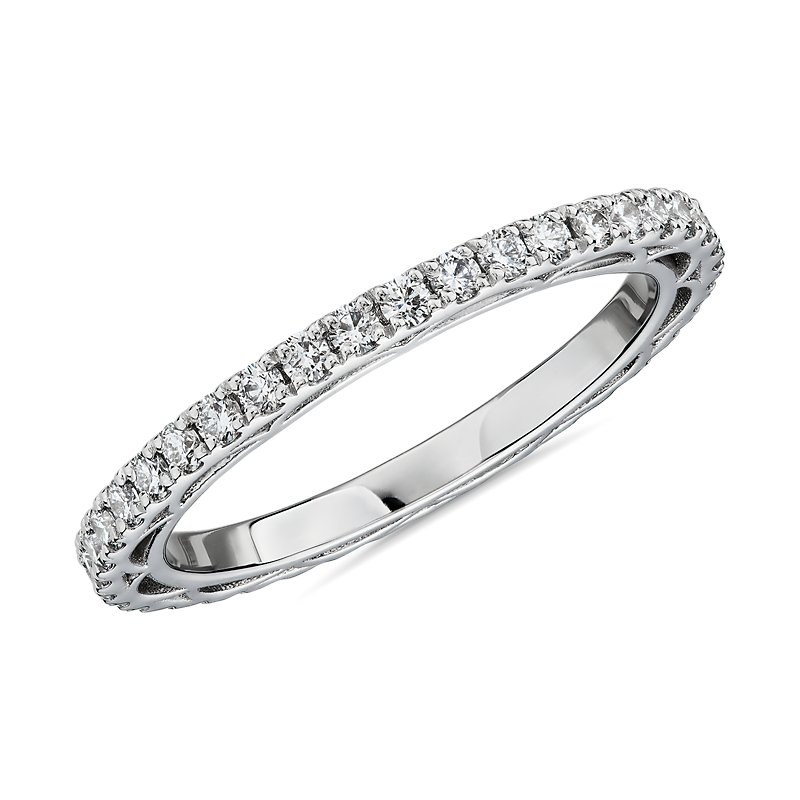 Bella Vaughan for Blue Nile Scia Diamond Eternity Ring in Platinu