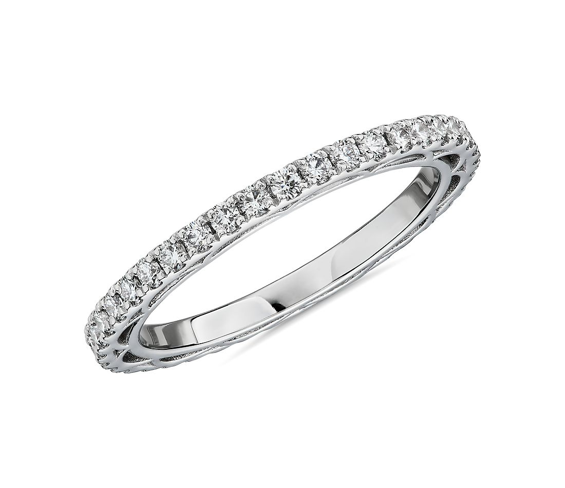 Bella Vaughan for Blue Nile Scia Diamond Eternity Ring in Platinum (5/8 ct. tw.) - G/VS2