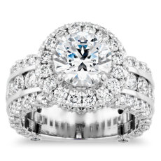 Bella Vaughan Sophia Triple Row Diamond Rollover Halo in Platinum (3.07 ct. tw.)