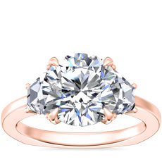 NEW Bella Vaughan Trapezoid Three Stone Engagement Ring in 18k Rose Gold (5/8 ct. tw.)