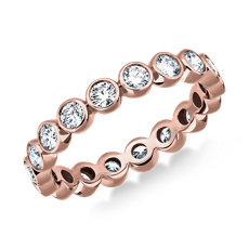 NEW Bezel-Set Diamond Eternity Ring in 14k Rose Gold (1 ct. tw.)