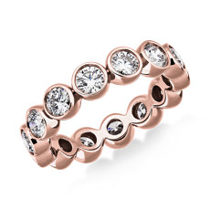 NEW Bezel-Set Diamond Eternity Ring in 14k Rose Gold (2 ct. tw.)