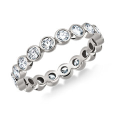 NEW Bezel-Set Diamond Eternity Ring in 18k White Gold (1 ct. tw.)