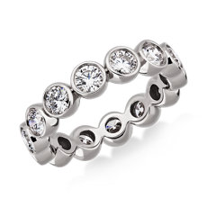 NEW Bezel-Set Diamond Eternity Ring in 18k White Gold (2 ct. tw.)