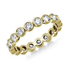 NEW Bezel-Set Diamond Eternity Ring in 18k Yellow Gold (1 ct. tw.)