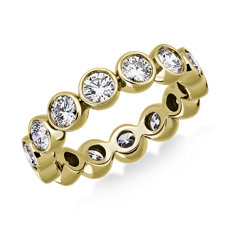 NEW Bezel-Set Diamond Eternity Ring in 18k Yellow Gold (2 ct. tw.)