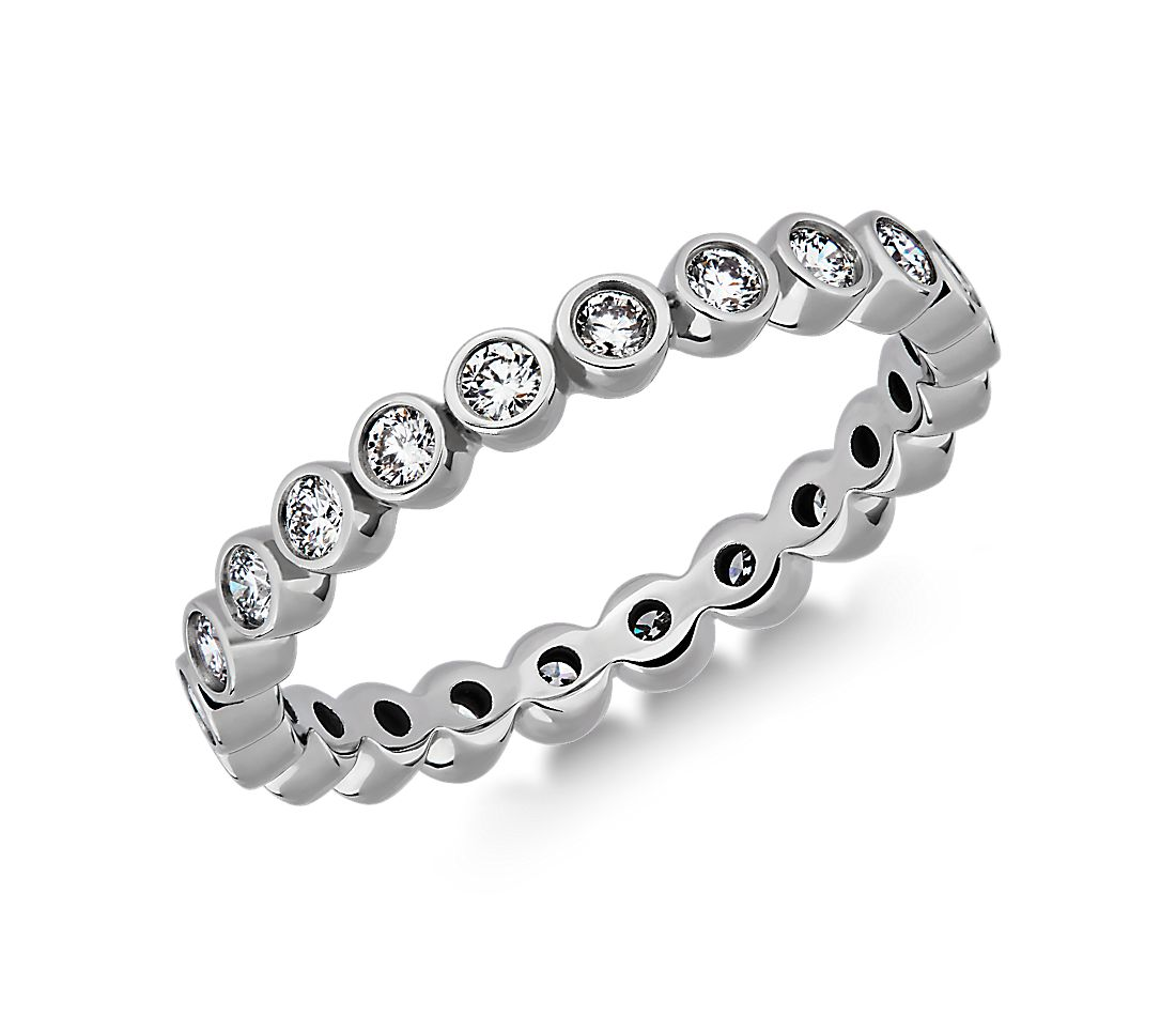 Bezel-Set Diamond Eternity Ring in Platinum (1/2 ct. tw.)