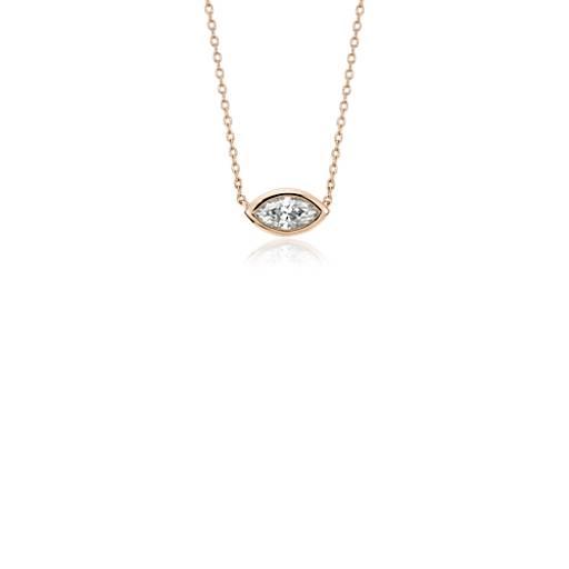 Blue Nile Bezel Set Pear-Shaped Diamond Pendant in 14k White Gold (1/5 ct. tw.) eVf9IRoy