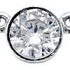Bezel Set Solitaire Pendant Setting in 14k White Gold