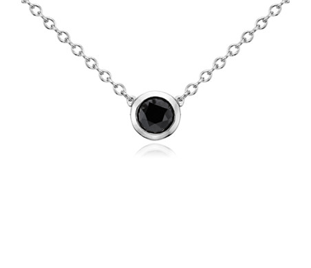 Black Diamond Pendant in Sterling Silver (1 ct. tw