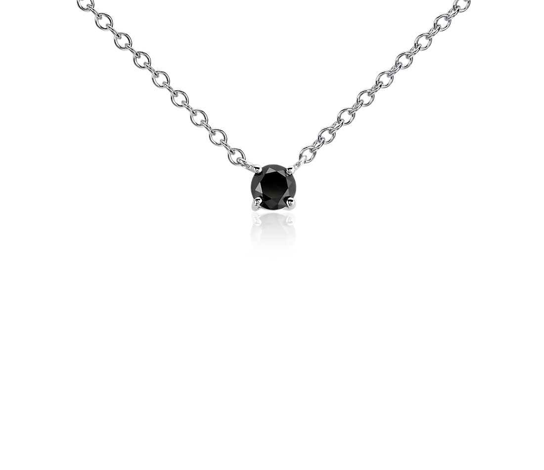 Black Diamond Pendant in Sterling Silver (1/2 ct. tw.)