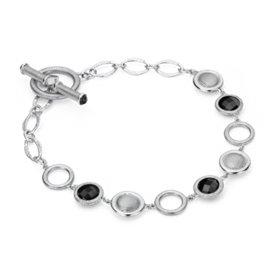 Frances Gadbois Bracelet en maillons en onyx noir en argent sterling (6mm)