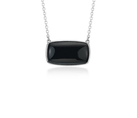 Black onyx necklace in sterling silver 10x16mm blue nile black onyx necklace in sterling silver 10x16mm aloadofball Choice Image