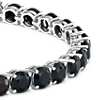 Round Black Onyx Bracelet in Sterling Silver (5mm)