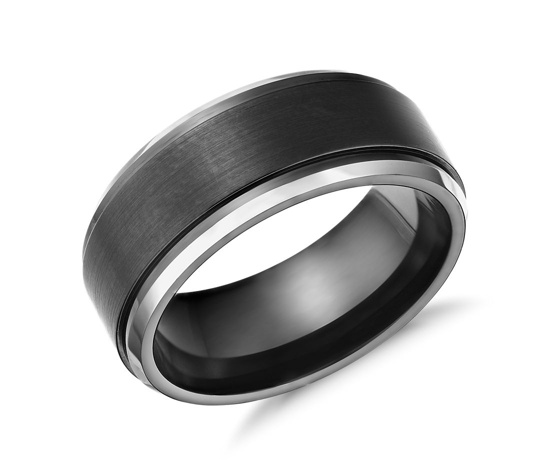 Satin Finish Wedding Ring in Blackened Cobalt (9mm)