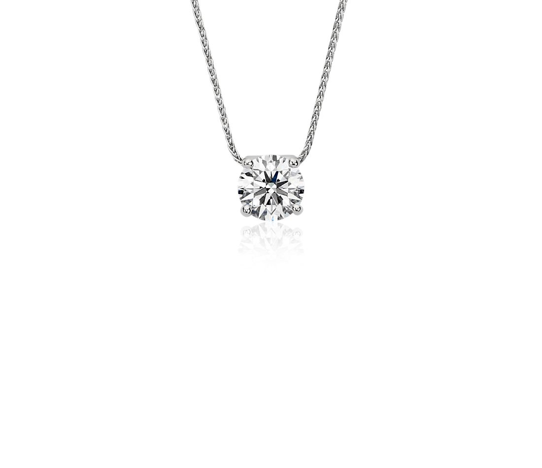 Blue Nile Signature Floating Diamond Solitaire Pendant In
