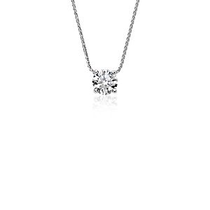 Blue Nile Signature Floating Diamond Solitaire Pendant in Platinum (0.80 ct. tw.)