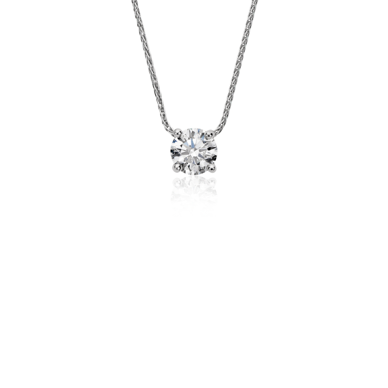 Blue Nile Signature Floating Diamond Solitaire Pendant in Platinu