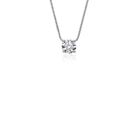 Blue nile signature floating diamond solitaire pendant in platinum blue nile signature floating diamond solitaire pendant in platinum 60 ct tw audiocablefo