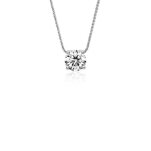 Blue nile signature floating diamond solitaire pendant in platinum blue nile signature floating diamond solitaire pendant in platinum 175 ct tw blue nile aloadofball