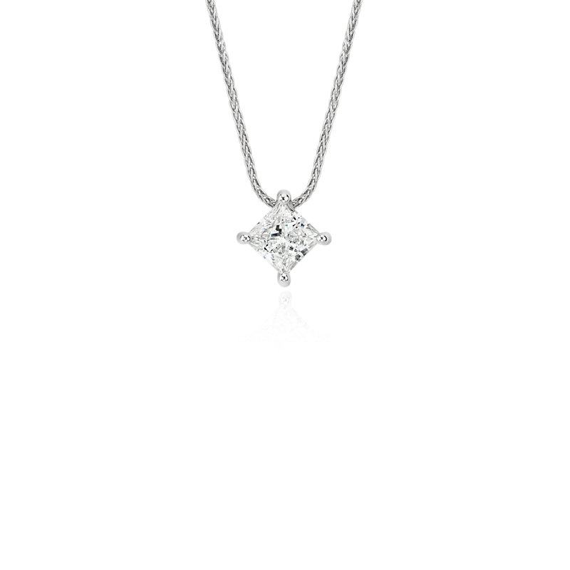 Blue Nile Signature Princess-Cut Floating Diamond Solitaire Penda