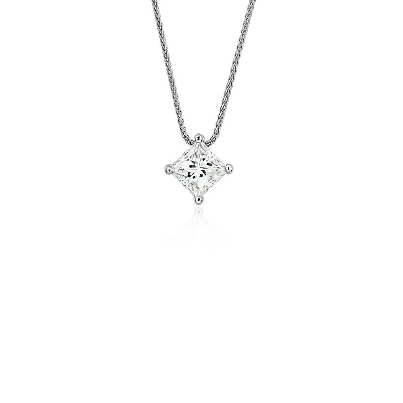 Blue Nile Signature Princess Cut Floating Diamond Solitaire Penda