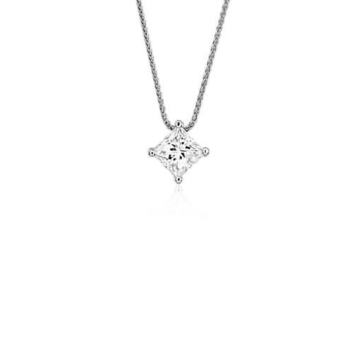 blue nile signature princess cut floating diamond