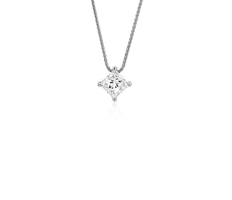 Blue nile signature princess cut floating diamond solitaire pendant blue nile signature princess cut floating diamond solitaire pendant in platinum 100 ct tw aloadofball Image collections