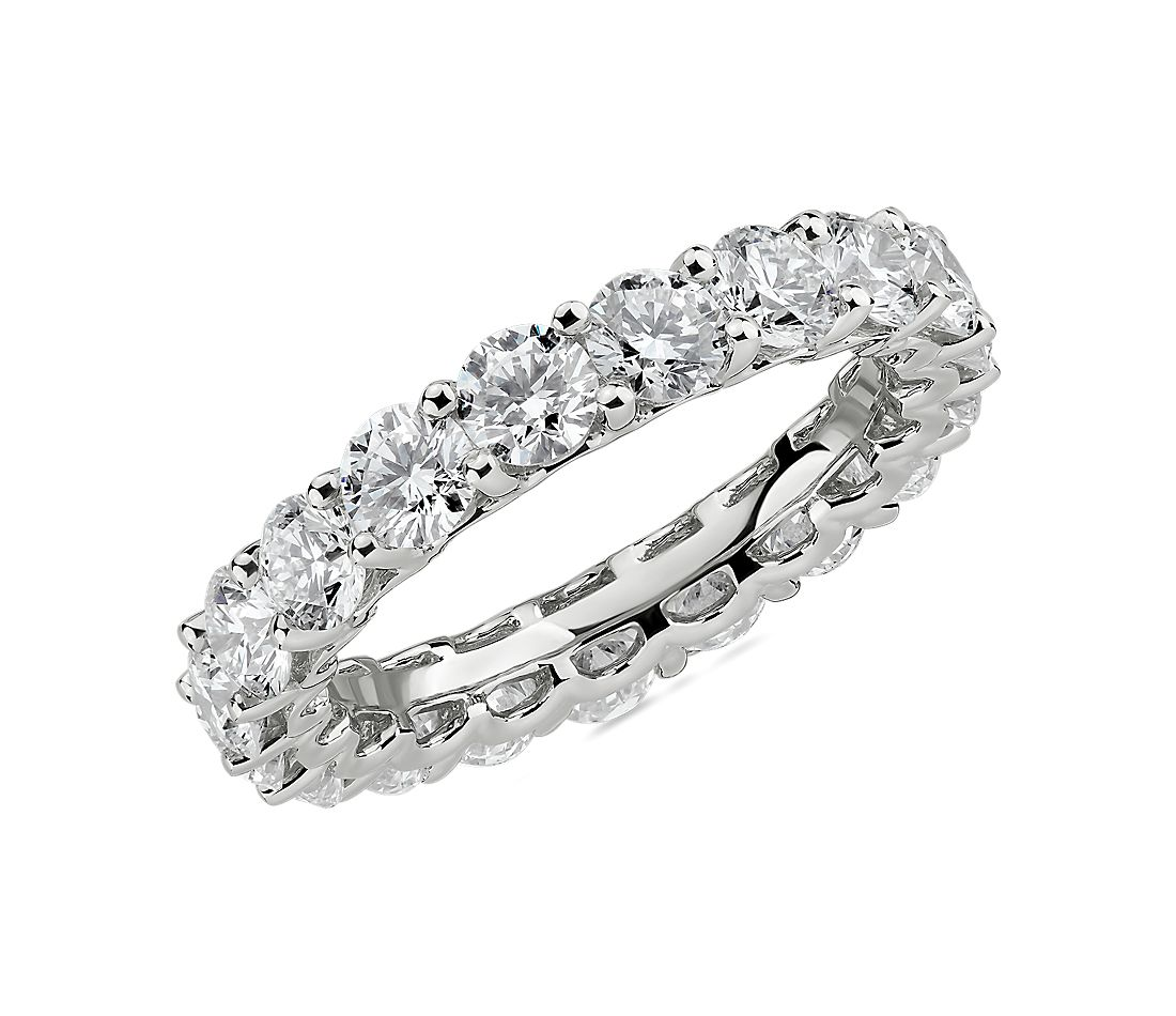 Blue Nile Studio Diamond Cloud Eternity Band in Platinum (3 ct. tw.)