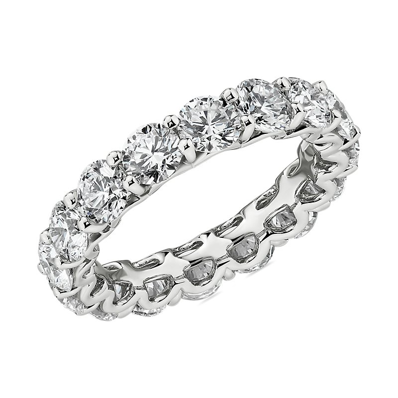 Blue Nile Studio Diamond Cloud Eternity Band in Platinum (4 ct. t