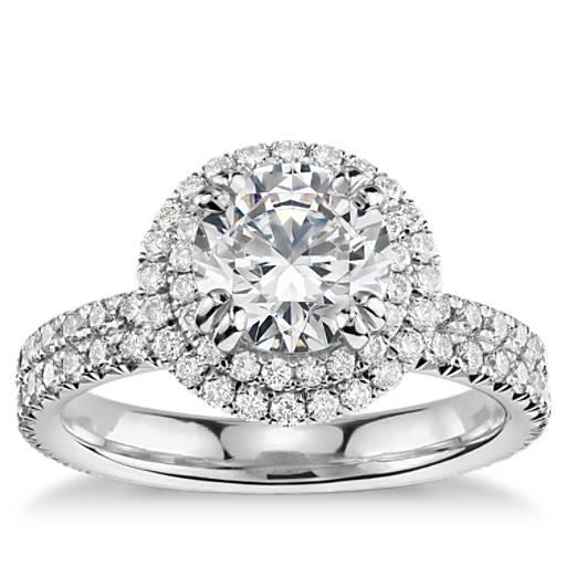 Engagement Ring Selection Guide: Blue Nile Studio Double Halo Gala Diamond Engagement Ring