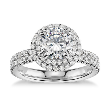 set wedding side diamonds rings princess pre products ring odiz modern cut row shiree engagement pave platinum diamond