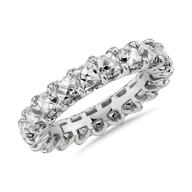 Blue Nile Studio French-Cut Diamond Eternity Band in Platinum (5