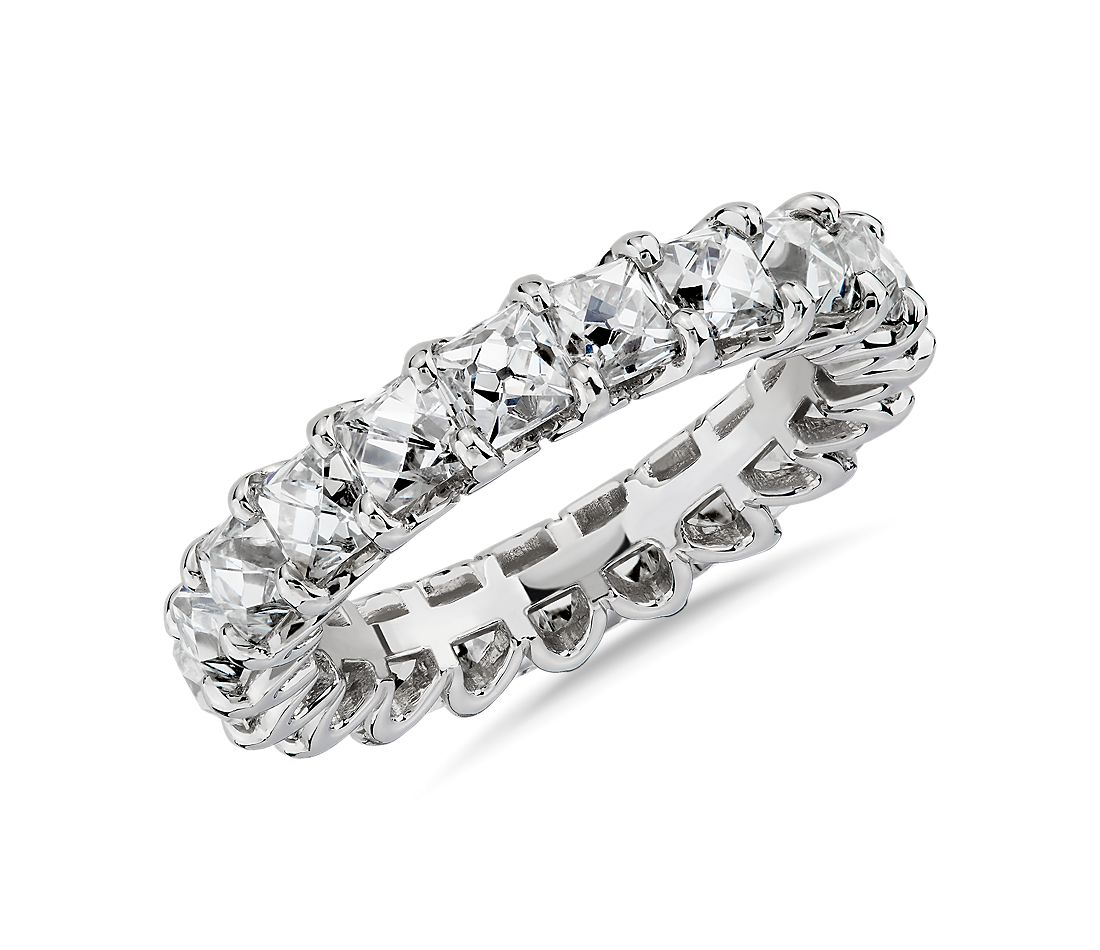 Blue Nile Studio French-Cut Diamond Eternity Band in Platinum (5 ct. tw.)