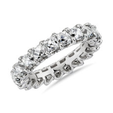 NEW Blue Nile Studio French-Cut Diamond Eternity Band in Platinum (5 ct. tw.)