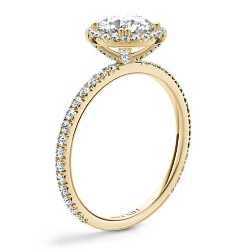 Blue Nile Studio Heiress Halo Diamond Engagement Ring
