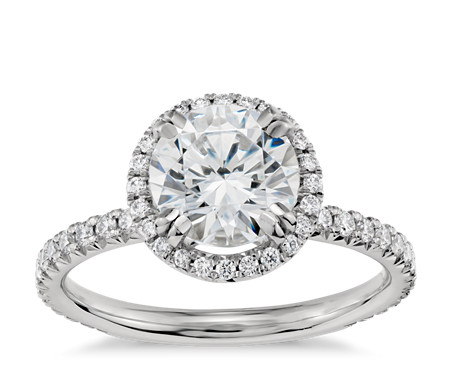 engagement rings ring shank orospot setting split com product micro platinum halo pave style diamond