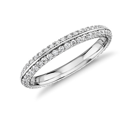 Blue Nile Studio Knife-Edge Diamond Eternity Ring in Platinum (1/2 ct. tw.)