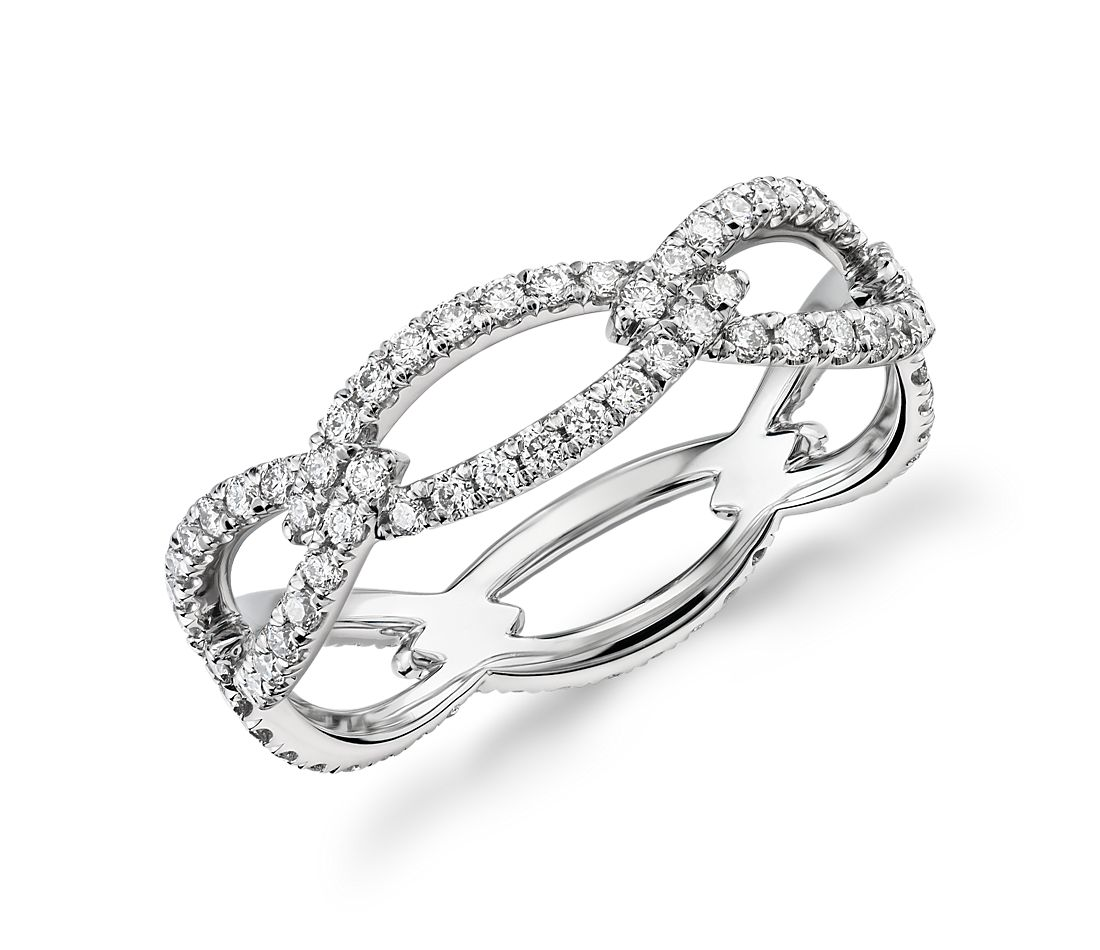 Blue Nile Studio Open Link Diamond Eternity Ring In