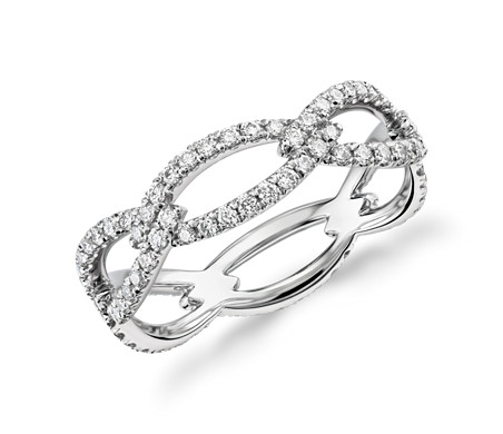 Blue Nile Studio Open Link Diamond Eternity Ring in Platinum (3/5 ct. tw.)