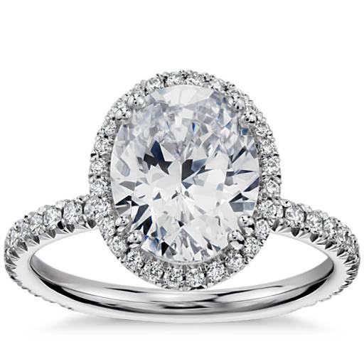 Blue Nile Studio Oval Cut Heiress Halo Diamond Engagement