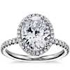 Blue Nile Studio Oval Cut Heiress Halo Diamond Engagement Ring in Platinum (1/2 ct. tw.)