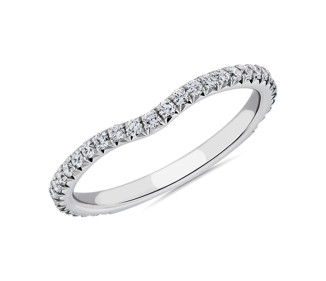 Blue Nile Studio Petite Crown Curved Diamond Ring