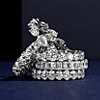 铂金 Blue Nile Studio 无缝祖母绿切割钻石永恒结婚戒指- G/VS2 (3 克拉总重量)第一另类视图
